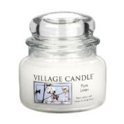 Village Candle Pure Linen 11oz Small Candle Jar